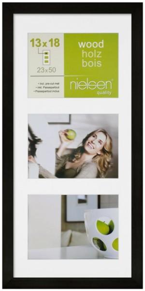 Nielsen Holz-Wechselrahmen Fotogalerie APOLLO mit Passepartout