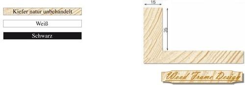 Holz-Schattenfugenrahmen P3/15 (Wood Frame Design)