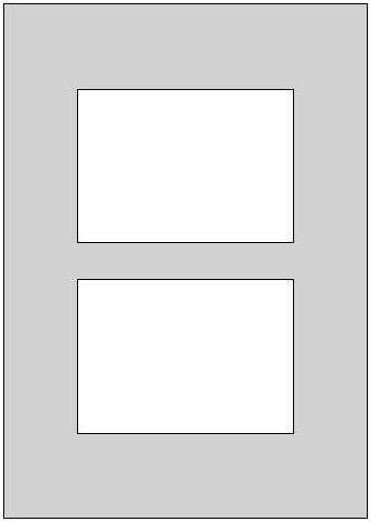 Fertig Passepartout 29,7 x 42 cm auf 20 x 30 cm  dunkelgrau A3