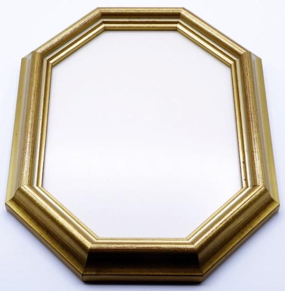 Achteckrahmen Gold