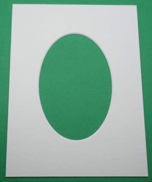 Außen eckig und Innen oval - Passepartoutkarton 1,4 mm