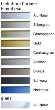DEHA-Wechselrahmen Farbübersicht Profil 170