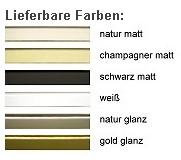 DEHA-Wechselrahmen Farbübersicht Profil 55
