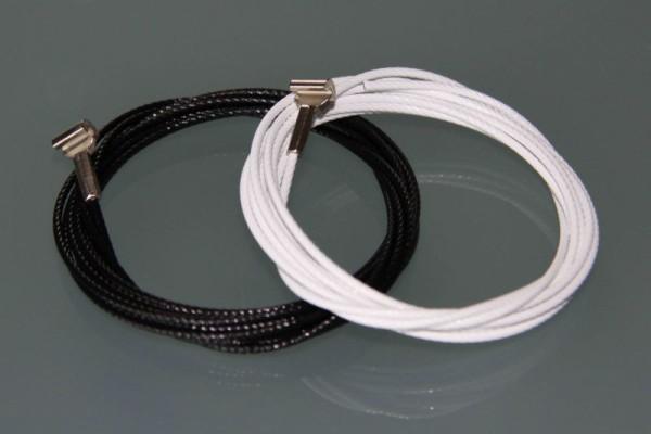 STAS-Stahldrahtseil mit Cobra weiß oder schwarz