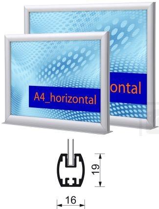 Plakat-Einschubrahmen Infotopper zum Aufstellen