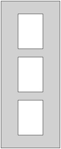 Galerie-Passepartout - Außenformat 30 x 74 cm