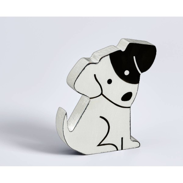 Dekofigur Hund, weiß