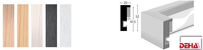 Holz-Bilderrahmen Profil 2052 (DEHA)