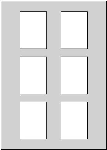 Mehrfach passepartout f r 6 bilder kartongr e 50 x 70 cm for Fenster 70x100