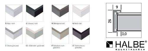 Aluminium-Magnetrahmen Profil 8 (Halbe)