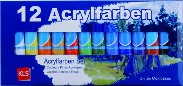 Farben Acryl 12 teilig