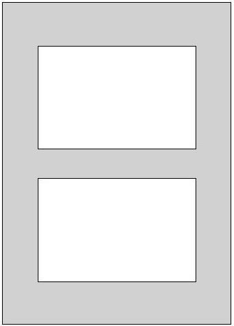 Galerie-Passepartout mit mehreren Ausschnitten - Außenformat 21 x 29,7 cm - DIN A4