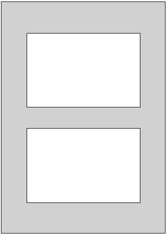 Galerie-Passepartout - Außenformat 40 x 50 cm