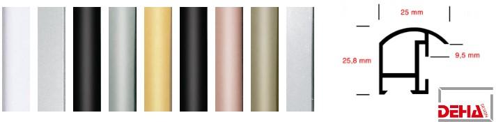Aluminium-Bilderrahmen Profil 11 (Deha)