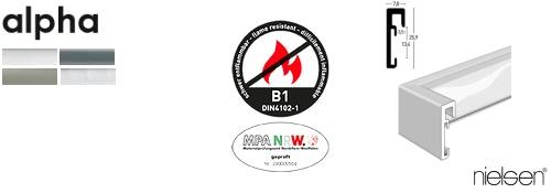 B1 Brandschutz-Bilderrahmen Alpha (Nielsen)
