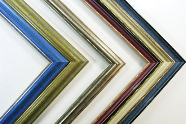 Leerrahmen Gold verziert mit Perlkante 24x30 cm