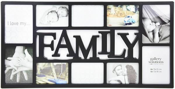 Nielsen Kunststoff-Collagerahmen Fotogalerie Family schwarz
