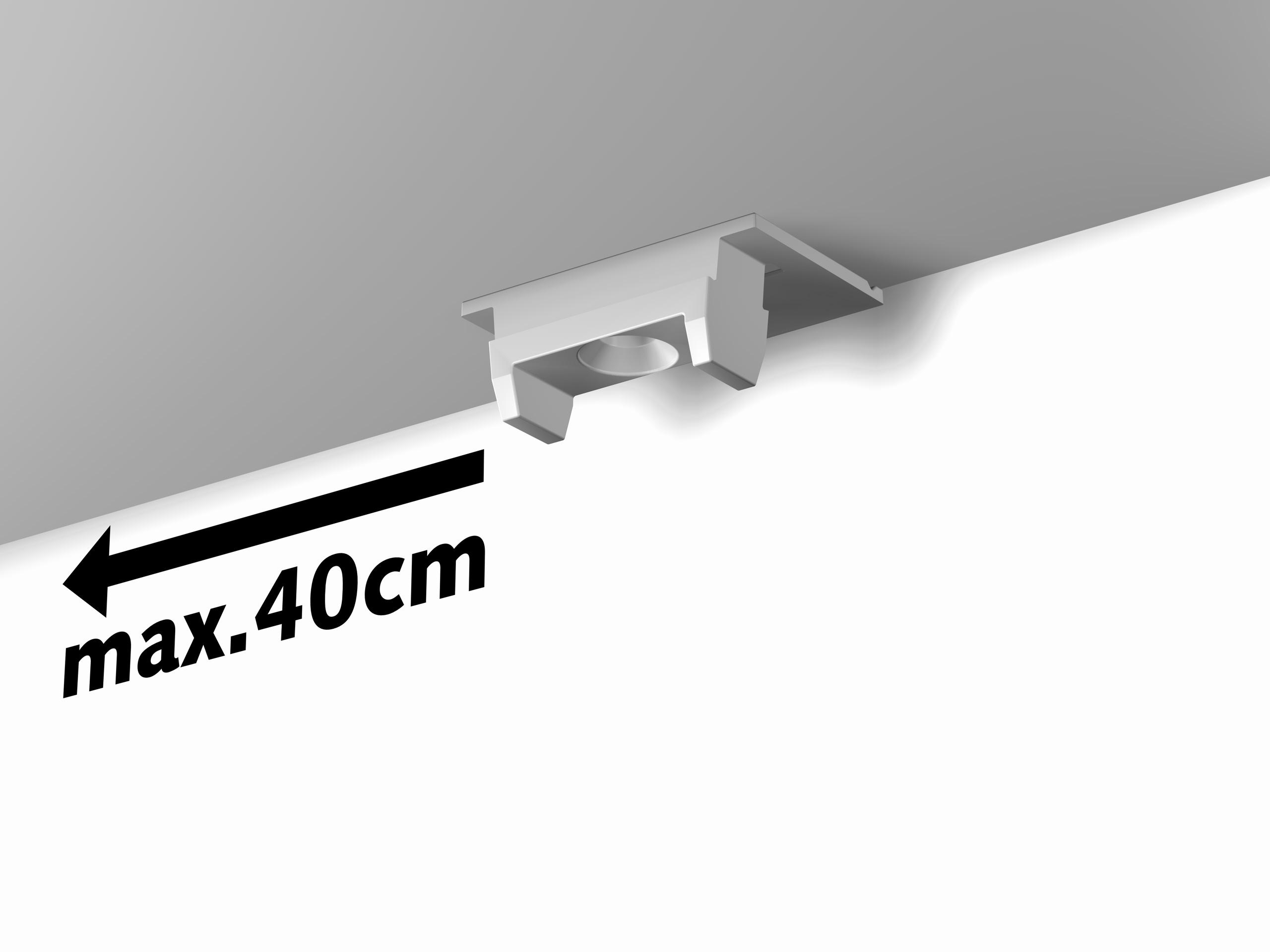 Clip-Abstand: maximal 40 cm