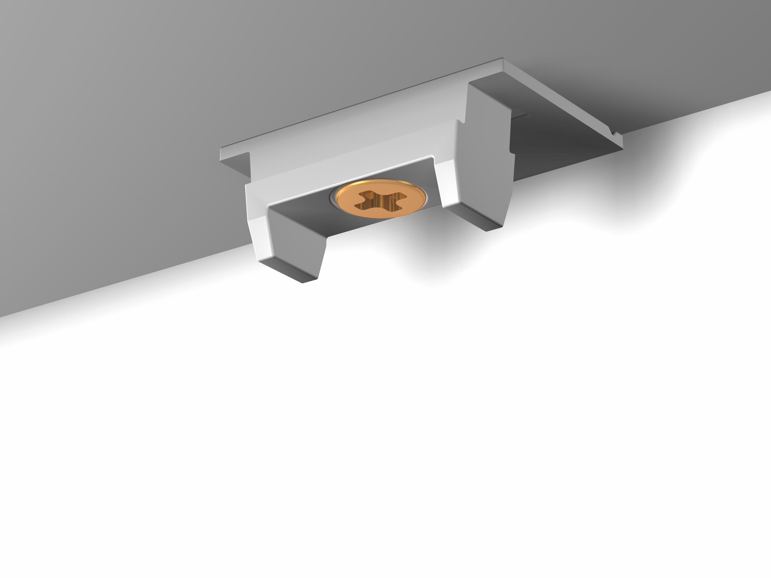 fertig montierter Befestigungsclip für Deckenschiene Newly R40