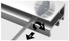 Twister kann an jeder beliebigen Stelle in die Schiene eingeschoben werden
